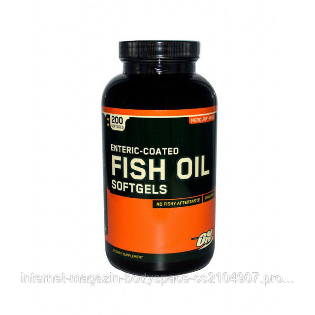 Optimum Nutrition Рыбий жир Enteric-Coated Fish Oil, 200 капсул
