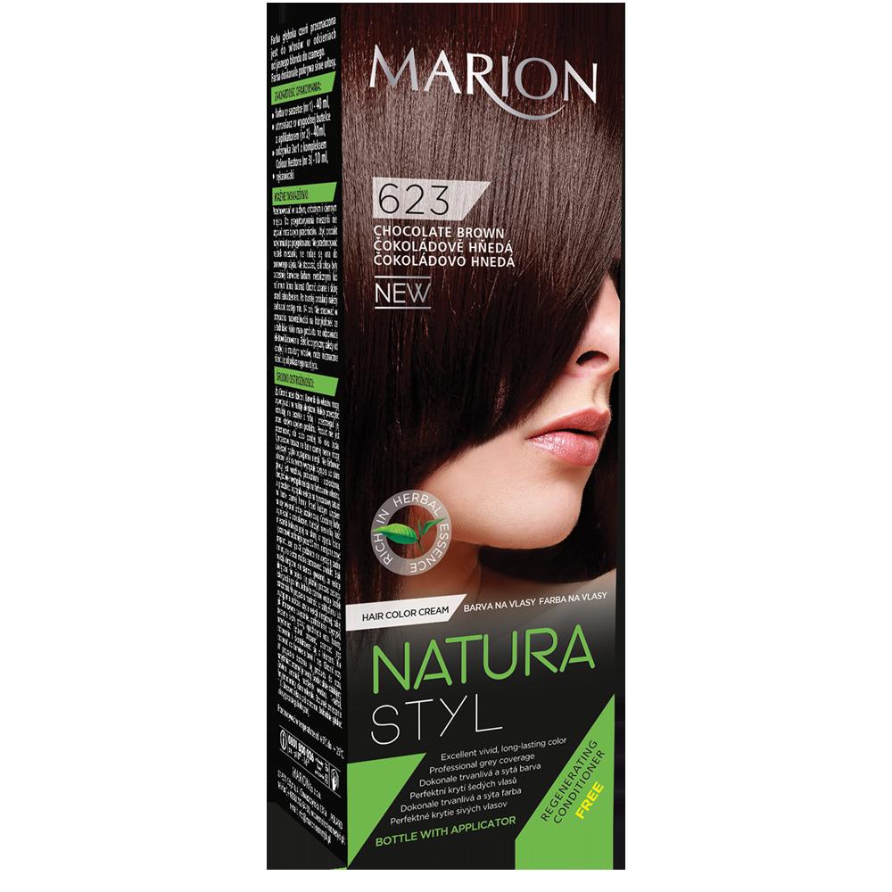 Фарба для волосся Marion Natural Styl 623 Шоколадний коричневий 40/40/10 мл (4118031)