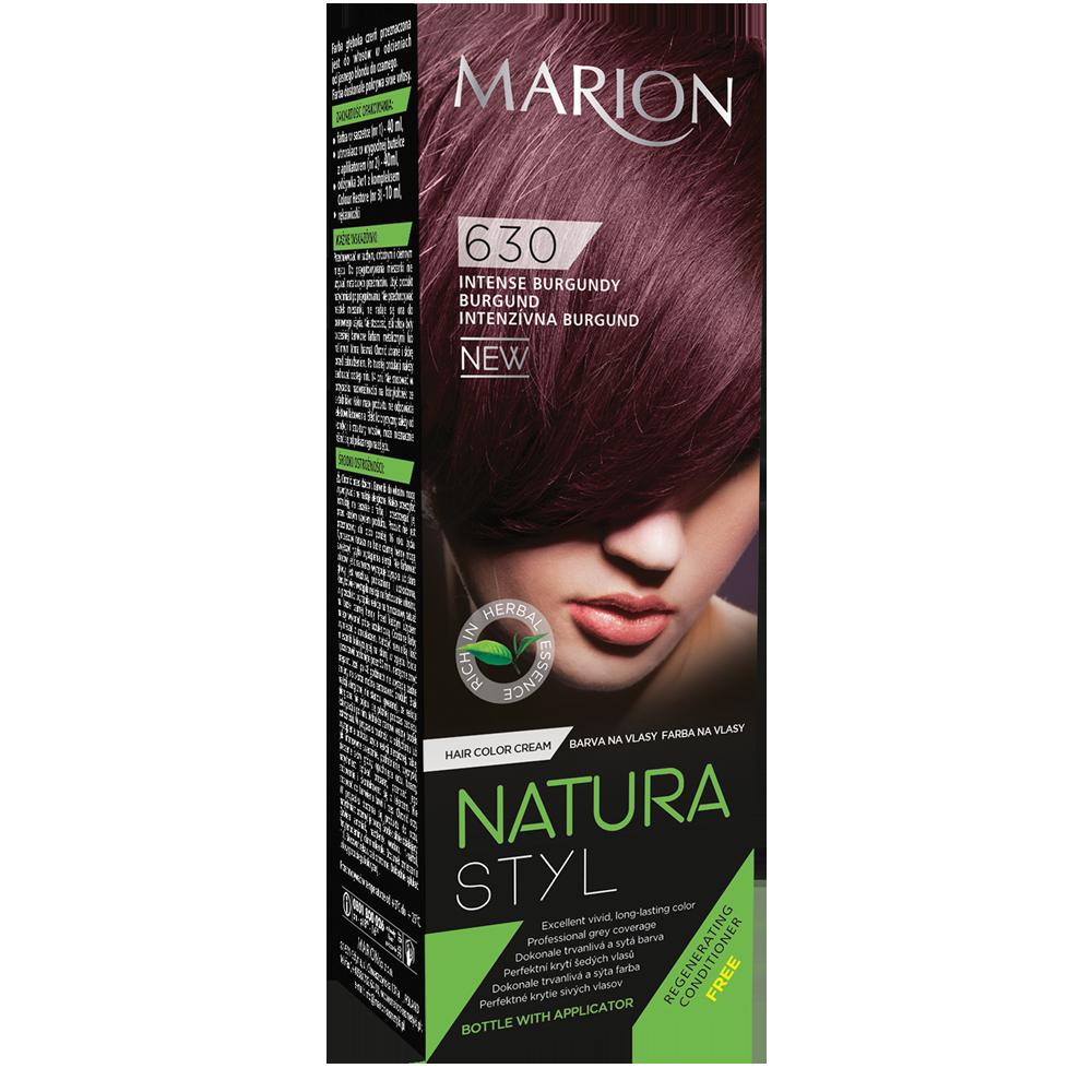 Фарба для волосся Marion Natural Styl 630 Насичений бургунді 40/40/10 мл (4118032)