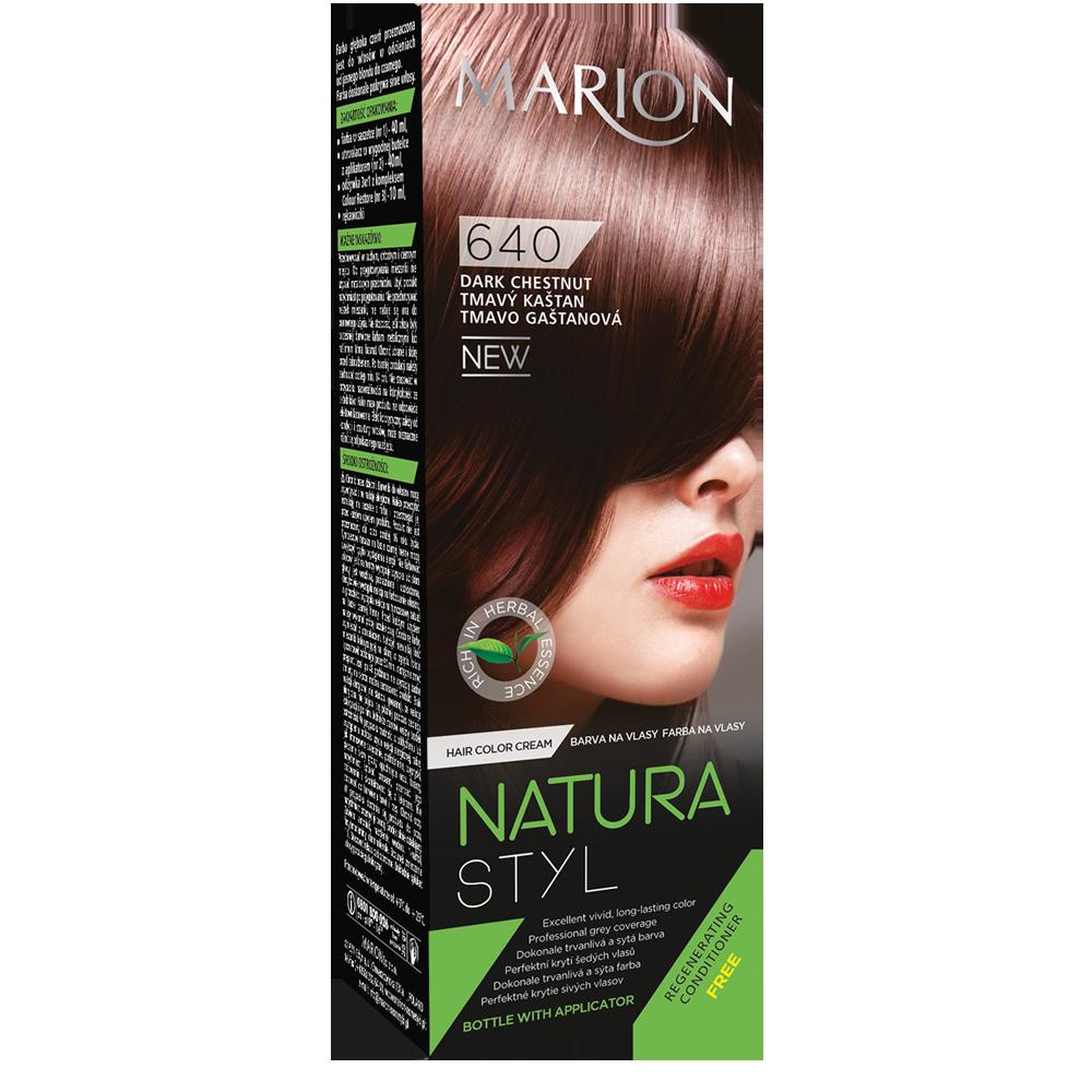 Фарба для волосся Marion Natural Styl 640 Темний каштан 40/40/10 мл (4118033)