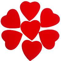 Конфетти сердечки красные 35мм 1кг