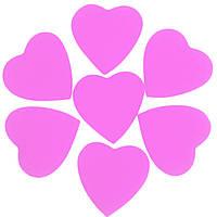 Конфетти сердечки розовые 35мм 1кг