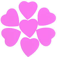 Конфетти сердечки нежно-розовые 35мм