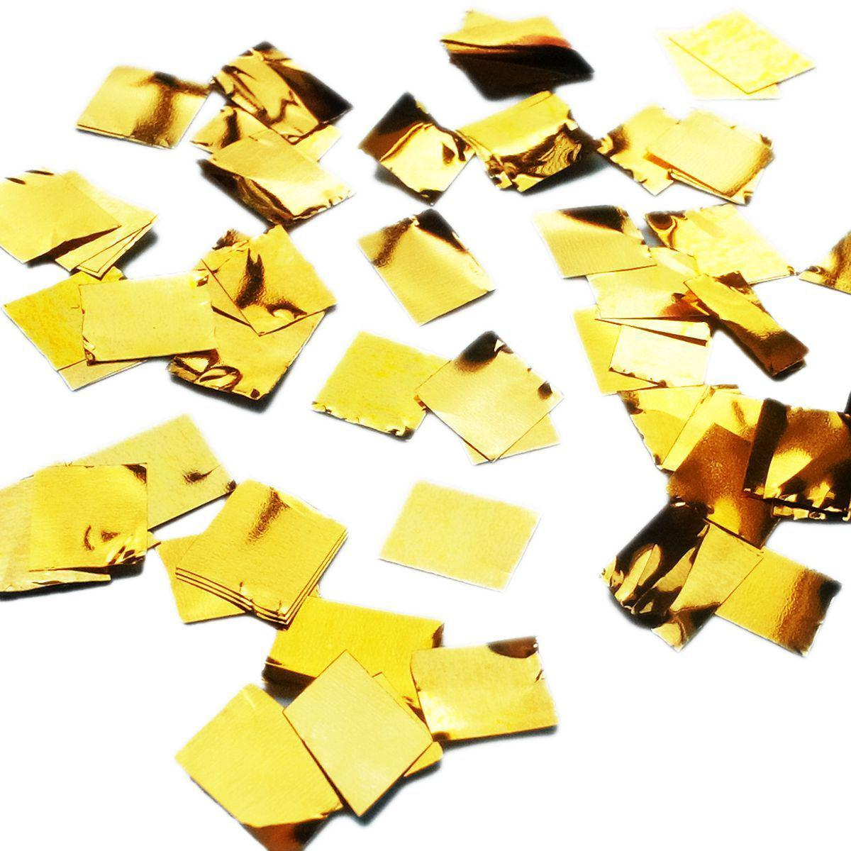 Конфетти квадратики золотые 8мм, 1кг