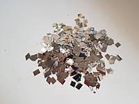 Конфетти квадратики серебряные 8мм, 1кг
