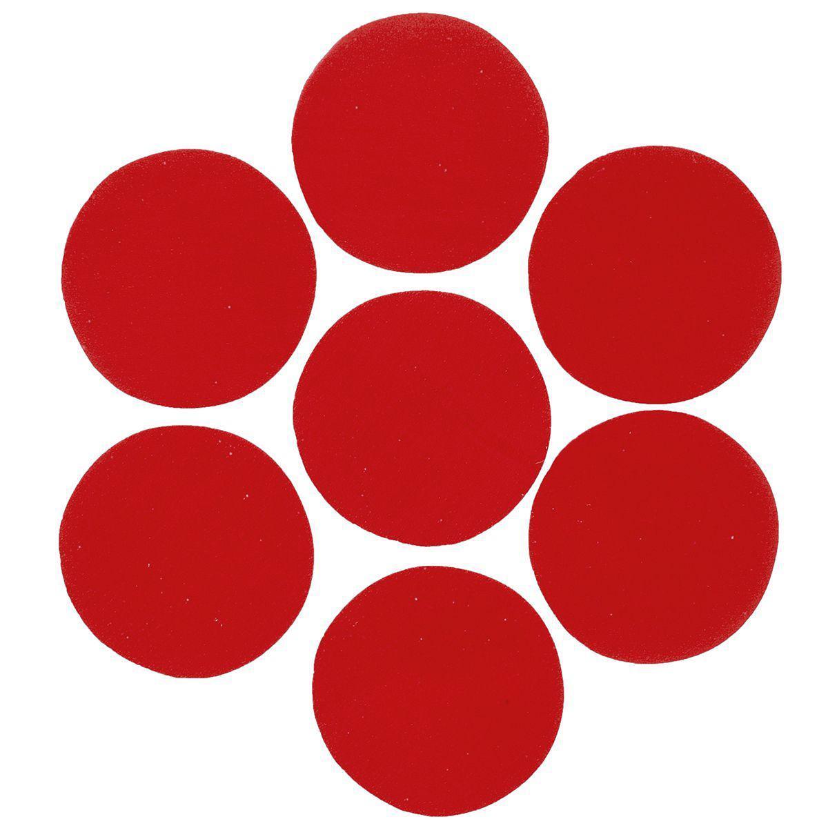 Конфетти кружочки красные 23мм