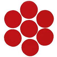 Конфетти кружочки красные 2,3см, 50 грамм