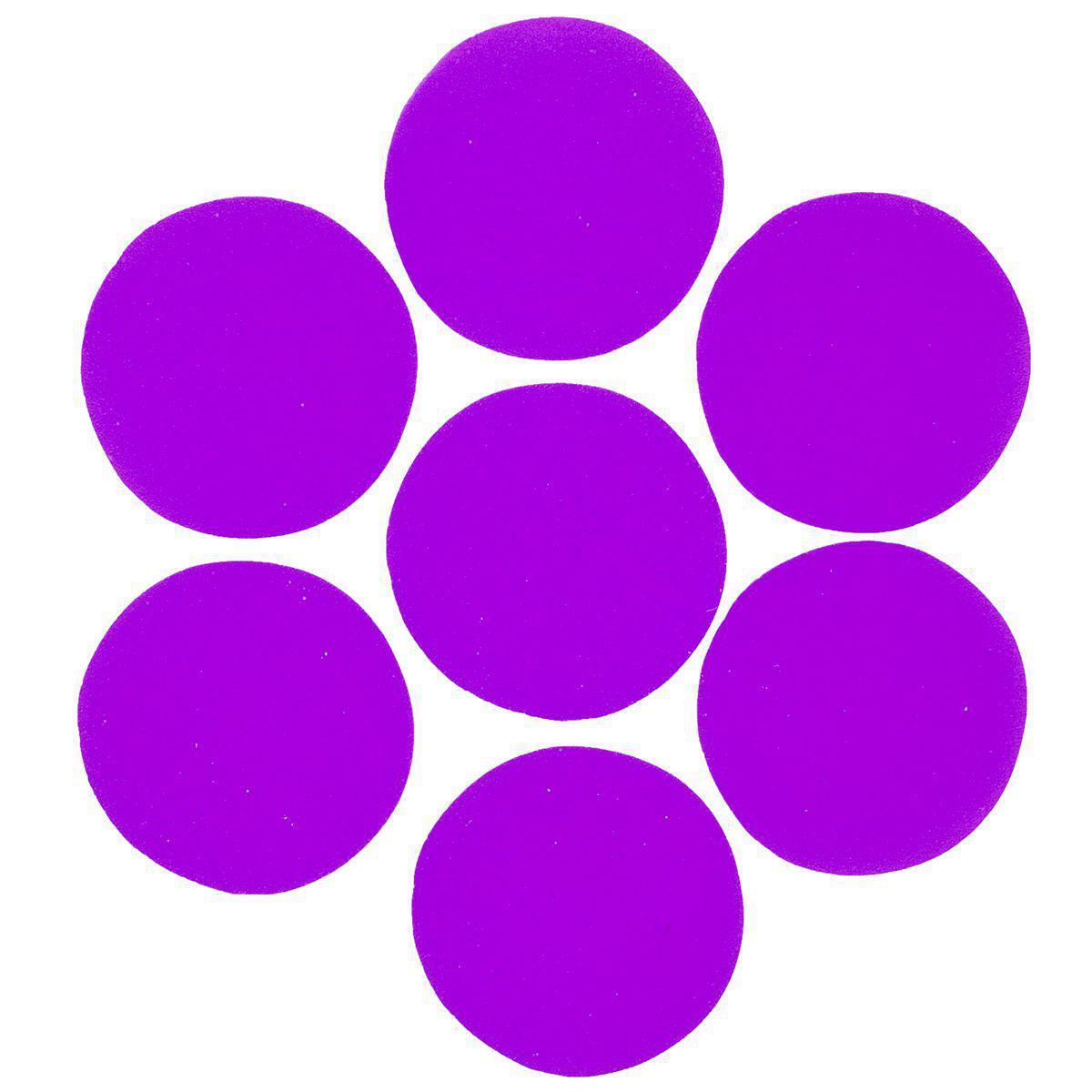 Конфетти кружочки фиолетовые 23мм