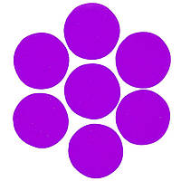 Конфетти кружочки фиолетовые 23мм, 1кг