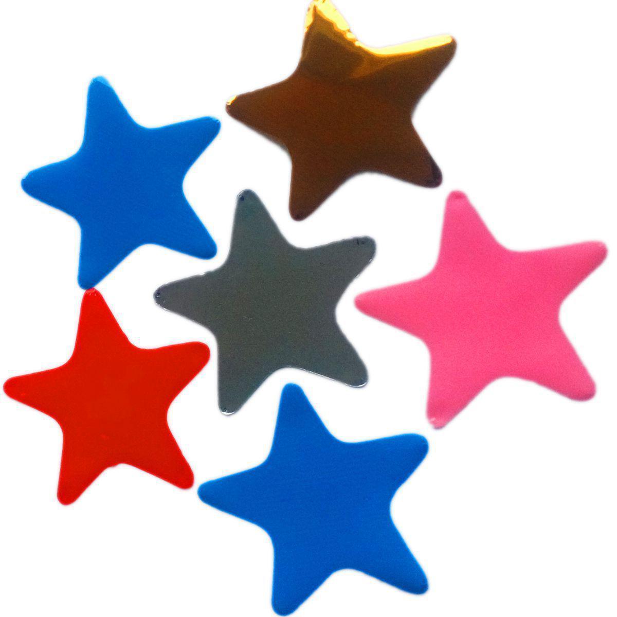 Конфетти звезды ассорти 23мм, 1кг