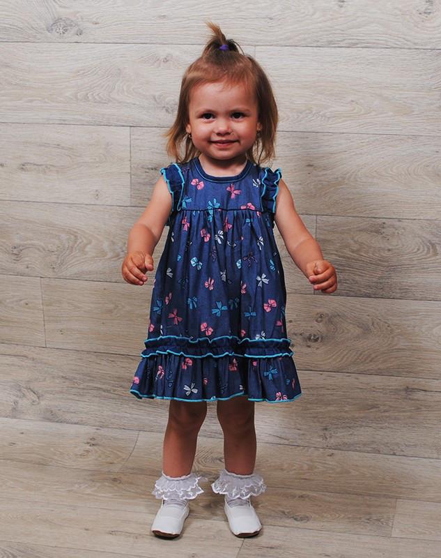 Платье-сарафан джинс ( от 1года до 3 лет). Разные расцветки.