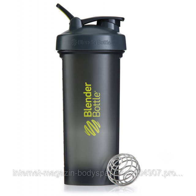 Blender Bottle, Спортивный шейкер BlenderBottle Pro45 Gray & Green, 1300 мл