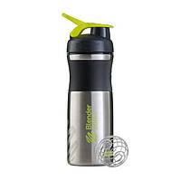 Blender Bottle, Спортивный шейкер BlenderBottle SportMixer Stainless Steel Green, 760 мл