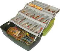 Органайзер, контейнер, ящик, коробка для рыболовных снастей (блесен, крючков)) 3 полки Aquatech 1703т