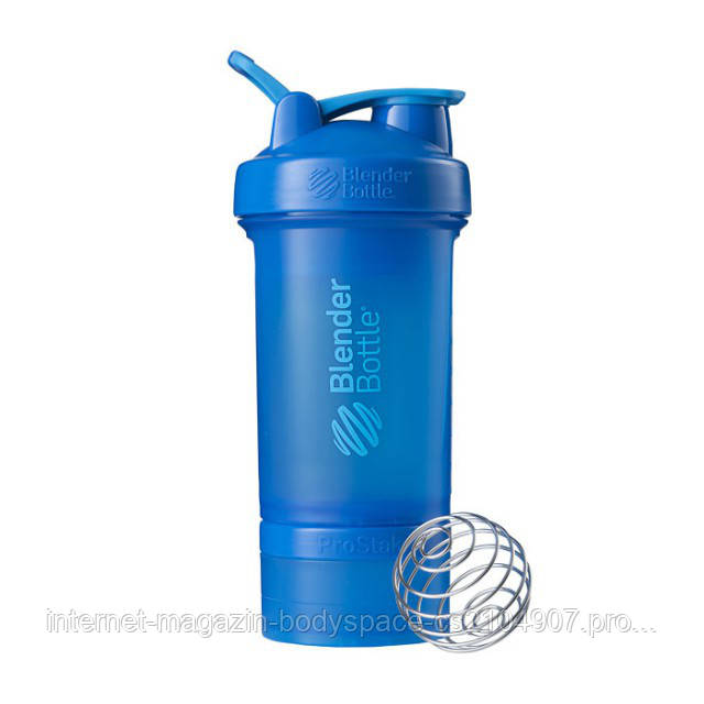 Blender Bottle, Спортивный шейкер BlenderBottle ProStak Cyan, 650 мл