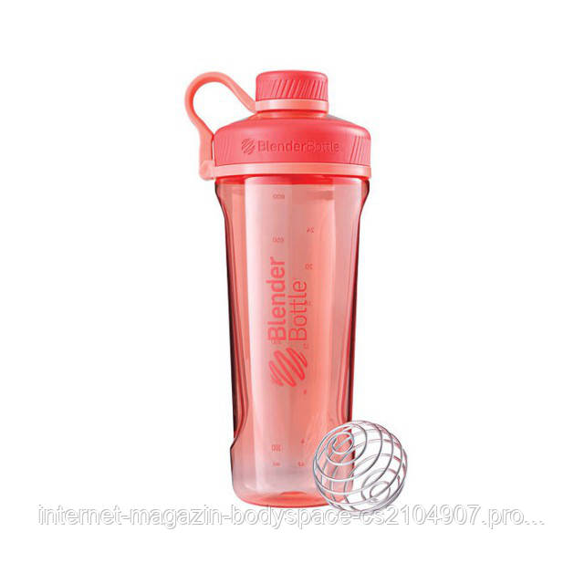 Blender Bottle, Спортивный шейкер-бутылка BlenderBottle Radian Coral, 900 мл