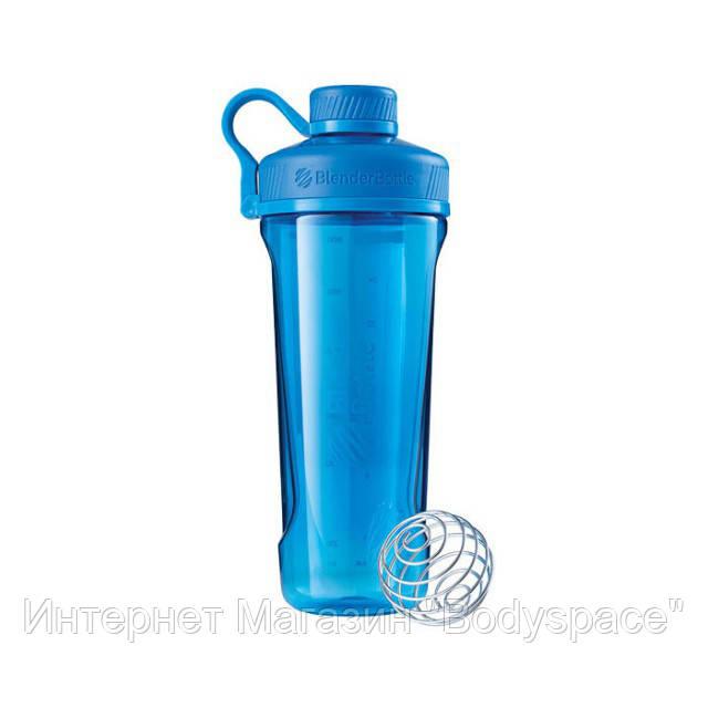 Blender Bottle, Спортивный шейкер-бутылка BlenderBottle Radian Cyan, 900 мл