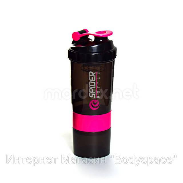 SpiderBottle, Спортивный шейкер Spider Bottle Mini2Go Black/Pink, 600 мл