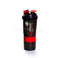 SpiderBottle, Спортивный шейкер Spider Bottle Mini2Go Black/Red, 600 мл