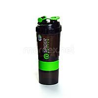 SpiderBottle, Спортивный шейкер Spider Bottle Mini2Go Black/Green, 600 мл