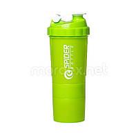SpiderBottle, Спортивный шейкер Spider Bottle Mini2Go Neon Series Herbal, 600 мл