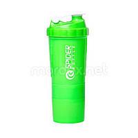 SpiderBottle, Спортивный шейкер Spider Bottle Mini2Go Neon Series Green, 600 мл