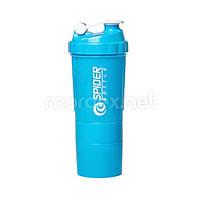 SpiderBottle, Спортивный шейкер Spider Bottle Mini2Go Neon Series Aqua, 600 мл