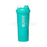 SpiderBottle, Спортивный шейкер Spider Bottle Mini2Go Neon Series Teal, 600 мл
