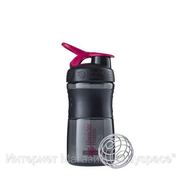 Blender Bottle, Спортивный шейкер-бутылка BlenderBottle SportMixer Pink/Black, 500 мл