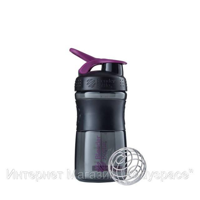 Blender Bottle, Спортивный шейкер-бутылка BlenderBottle SportMixer Plum/Black, 500 мл