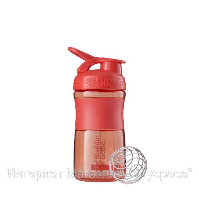 Blender Bottle, Спортивный шейкер-бутылка BlenderBottle SportMixer Coral, 500 мл