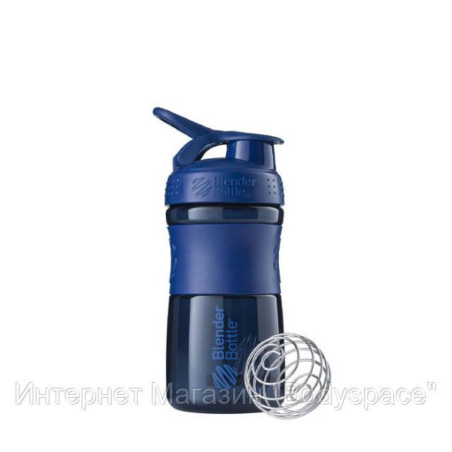 Blender Bottle, Спортивный шейкер-бутылка BlenderBottle SportMixer Navy, 500 мл