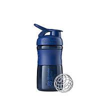 Blender Bottle, Спортивный шейкер-бутылка BlenderBottle SportMixer Navy, 500 мл, фото 1