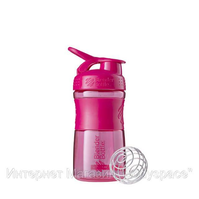 Blender Bottle, Спортивный шейкер-бутылка BlenderBottle SportMixer Pink, 500 мл