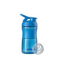 Blender Bottle, Спортивный шейкер-бутылка BlenderBottle SportMixer Cyan, 500 мл, фото 1