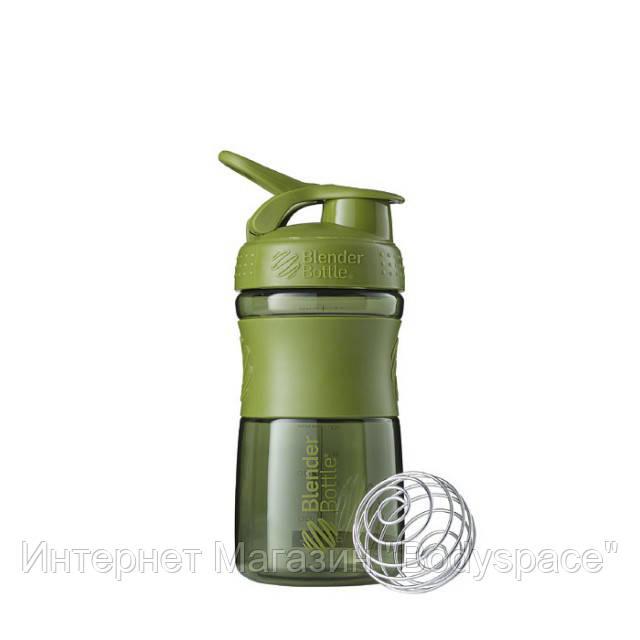Blender Bottle, Спортивный шейкер-бутылка BlenderBottle SportMixer Moss, 500 мл