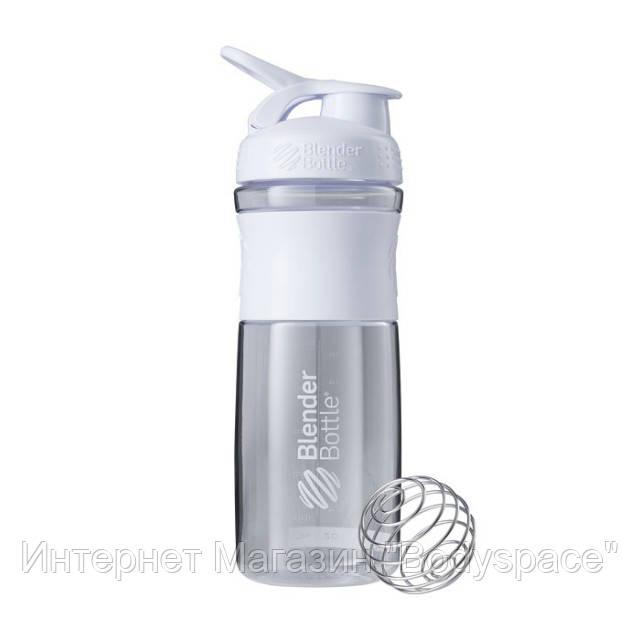 Blender Bottle, Спортивный шейкер-бутылка BlenderBottle SportMixer White, 760 мл