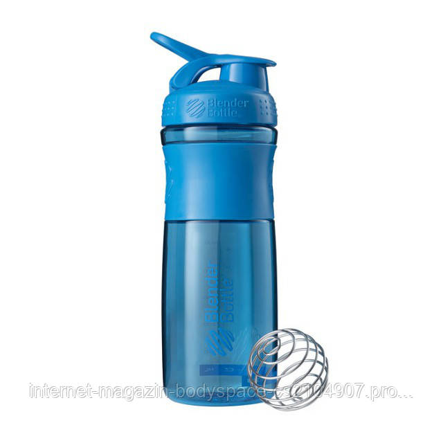 Blender Bottle, Спортивный шейкер-бутылка BlenderBottle SportMixer Cyan, 760 мл