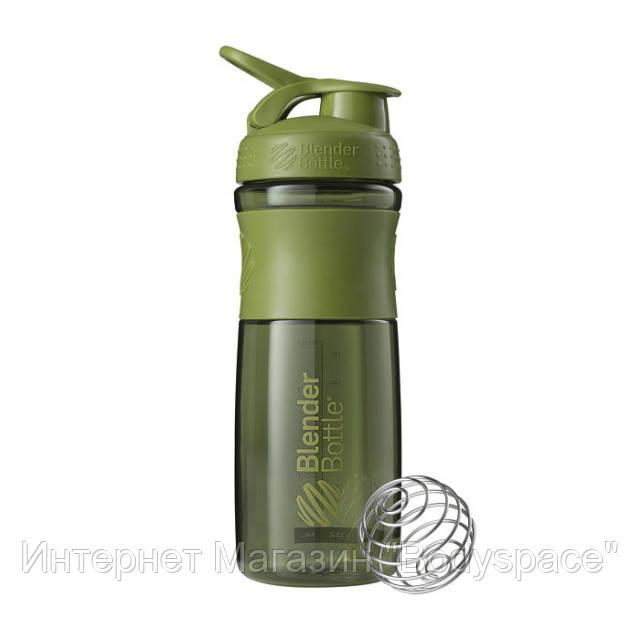 Blender Bottle, Спортивний шейкер-пляшка BlenderBottle SportMixer Moss, 760 мл