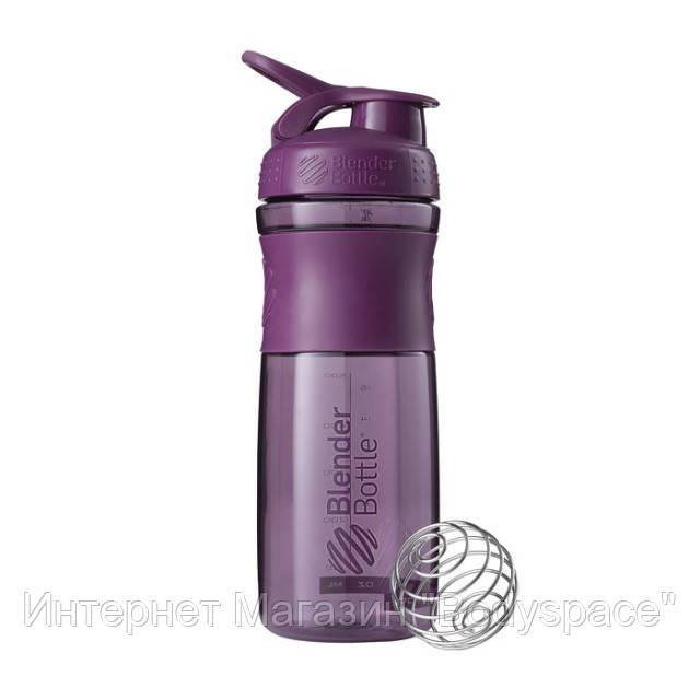 Blender Bottle, Спортивный шейкер-бутылка BlenderBottle SportMixer Plum, 760 мл