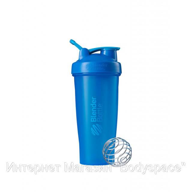 Blender Bottle, Спортивный шейкер BlenderBottle Classic Loop Cyan, 760 мл