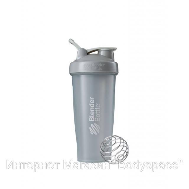 Blender Bottle, Спортивный шейкер BlenderBottle Classic Loop Gray, 760 мл