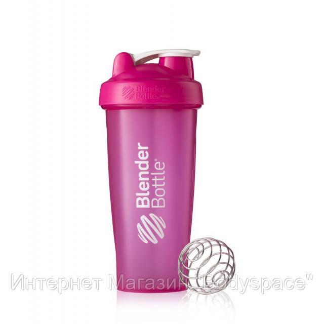 Blender Bottle, Спортивный шейкер BlenderBottle Classic Pink, 760 мл