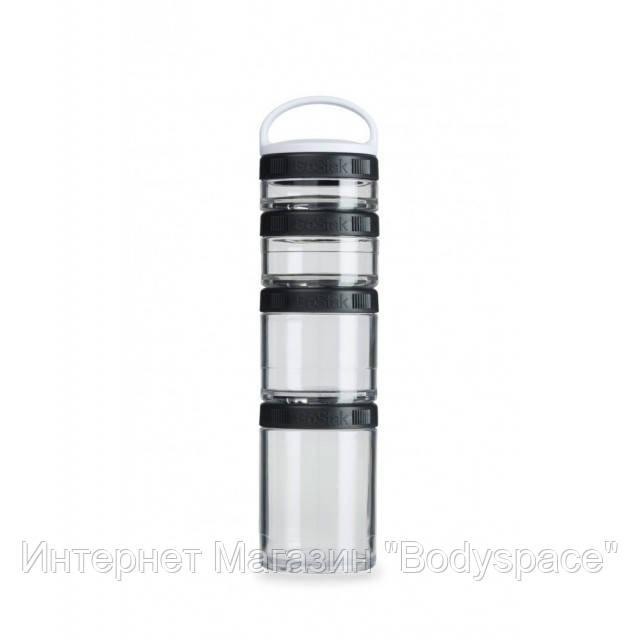 Blender Bottle, Контейнер GoStak Starter 4 Pack, Black