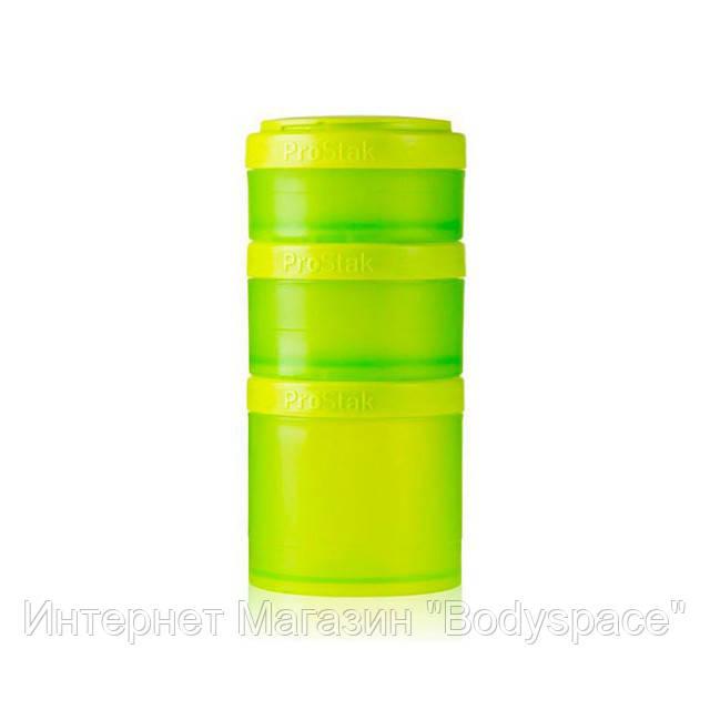 Blender Bottle, Контейнер Prostak Expansion Starter 3 Pack Green