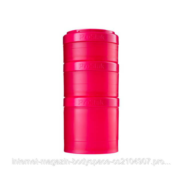 Blender Bottle, Контейнер Prostak Expansion Starter 3 Pack Pink