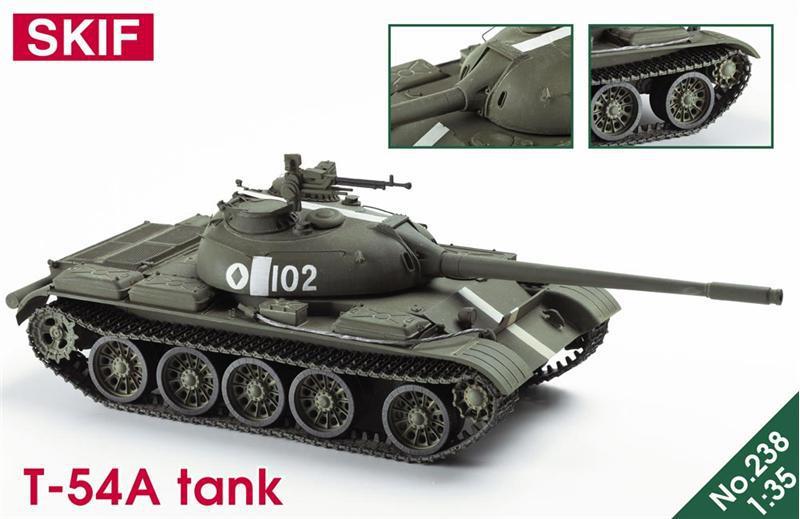 Т-54А советский средний танк. 1/35 SKIF MK238