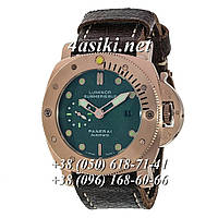 Часы Panerai Luminor 1950 Submersible Leather Brown-Gold-Green
