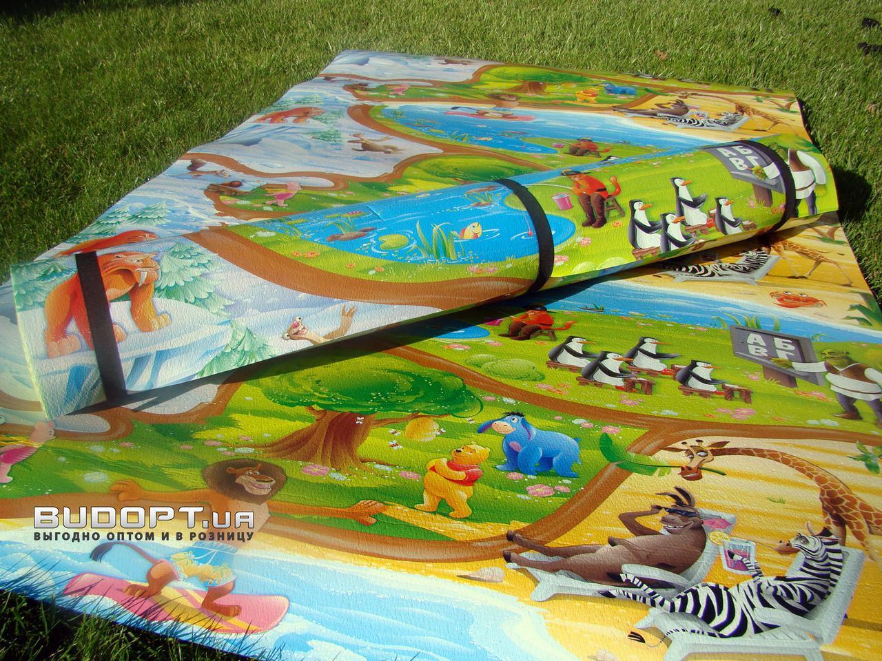 Детский игровой развивающий коврик OSPORT Мадагаскар 120x200см (FI-0091) - FitUp (ФитАп) - Интрнет Магазин в Киеве