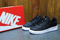 Кроссовки мужские низкие Nike Air Force black (аир форс, реплика)